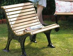 How to Restore a Cast Iron Bench - we have 2 of these that I have been waiting to restore!