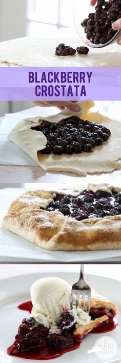 Blackberry Crostata - need a summer dessert in no time? Get the flavors of a pie in the fraction of the time with a crostata!
