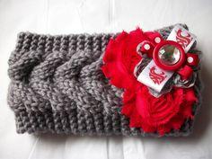 Women's Crochet WSU WAZZU Washington State University Cougars Knit Headband #WashingtonStateCougars