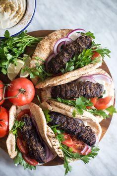 Egyptian Beef Kofta Rolls with Tahini sauce. Ready in just 15 min!