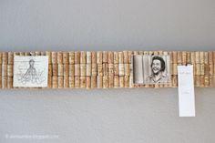 Die Raumfee: Pinnwand aus Weinkorken // Comment Wall made of wine corks