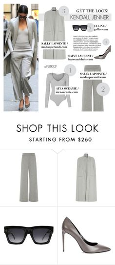 Grey Mood: Kendall Jenner by putricp on Polyvore featuring Sally Lapointe, Yves Saint Laurent, CÉLINE, GetTheLook, Stealherstyle, kendalljenner and putricp