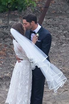 Lucifer star Tom Ellis is officially a married man, after tying the knot with screenwriter Meaghan Oppenheimer in a woodland ceremony in Santa Ynez, California on Sunday. Tom Love, Lesley Ann Brandt, Toms, Tom Ellis Lucifer, Actor James, New Wife, Three Daughters, Lace Dress With Sleeves, Poses For Pictures