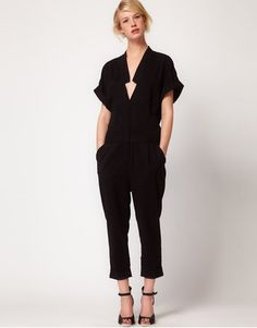 ShopStyle: Factory By Erik Hart Jumpsuit With Kimono Sleeve