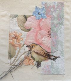 Ashleigh Reid;  collage, layers, appliqué, stitch, vintage papers, buttons, thread, experiments, mixed media. ALevel textiles