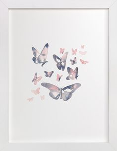 Papillons by Jocelyn Edin at minted.com