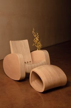 cool wooden rocking chair.