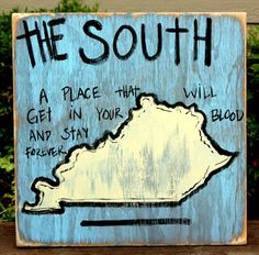 #Kentucky Hand Painted Sign from Simply Southern Signs and Bourbon & Boots