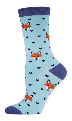Socksmith Women's Cloud Blue Bamboo Fox Lover Socks Best Price