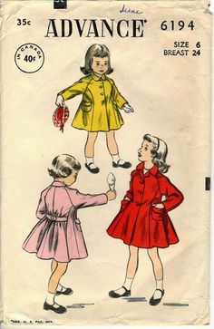 #Vintage #Sewing #Pattern Advance 6194