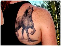 37 Amazing Horse Tattoo Design: Nature Horse Tattoo Designs For Women On Upper Back ~ Tattoo Design Inspiration