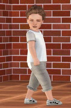 PANTAPASICOURT trousers for toddlers by Fuyaya - Sims 3 Downloads CC Caboodle