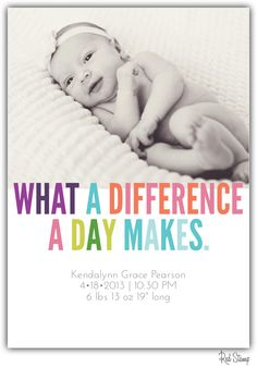 """""""Birth announcement made from the iPhone app red stamp"""" So easy right?! What a cutie!"""