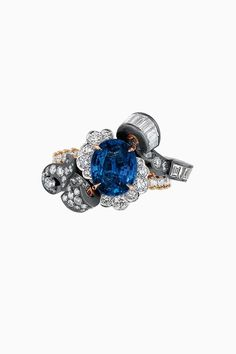 "DIOR. ""Boiserie Saphir"" ring in yellow gold, platinum, pink gold, scorched…"