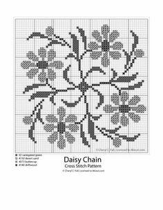 Daisy-Chain-Cross-Stitch-Pattern