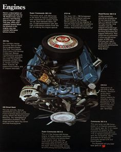 """a Plymouth Brochure cites """"unsilenced air cleaners"""" in hearing the heart pounding four and dual-four barrel carburetors opening up! Plymouth Road Runner, Mopar, Chrysler Valiant, Dodge Muscle Cars, Car Advertising, Dodge Trucks, Performance Cars, Drag Cars, Car Engine"""