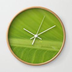 Tropical Wall Clock Banana Leaf Decor tropical by LongForgotten