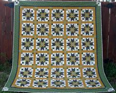 Use a classic Blackford's Beauty star quilt pattern to make a cozy bed quilt pattern in any size. You can easily change up the color scheme to make this very classic and elegant quilt pattern match your own room.