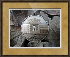 "Patek Philippe Geneve Commemorative Medal Coin // Paper: enhanced matte; Glazing: acrylic; Moulding: dark brown, belmont medium olive; Top Mat: tan, gold bullion; Middle Mat: black/gray, prato grotto; Bottom Mat: white/cream, sea mist // Price starts at $202 (Petite: 20"" x 22""). // Customize at http://www.imagekind.com/Patek-Philippe-Geneve-PPG_art?IMID=93da3f73-9df2-48b4-b4f0-b660a9644b63"