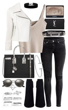 """""""Untitled #19937"""" by florencia95 ❤ liked on Polyvore featuring Yves Saint Laurent, H&M, Yigal AzrouÃ«l, B-Low the Belt, Ray-Ban, Boohoo, Humble Chic and NARS Cosmetics"""