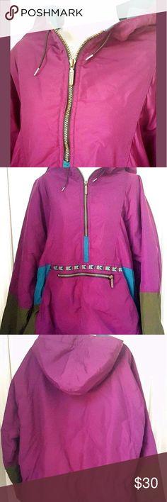 VTG  LL Bean Adirondack Ladies XL Aztec Nylon Pull VTG  LL Bean Adirondack Ladies XL Aztec Nylon Pullover Hooded Jacket 1/4 Zip  Nice shape!  Popover 1/4 zip style. Made in USA. L.L. Bean Jackets & Coats Puffers