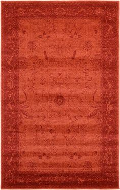 Rust Red Vista Area Rug