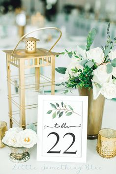 Greenery Table Number Template // Printable Wedding Table Numbers // Wedding Table Numbers // and sizes // Eucalyptus Leaf Gold Table Numbers, Wedding Table Numbers, Wedding Tables, Wedding Centerpieces, Wedding Decorations, Wedding Ideas, Centerpiece Flowers, Centerpiece Ideas, Trendy Wedding