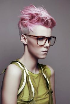 Blonde and pink undercut. Nice.