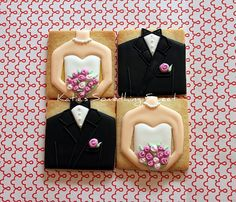 bride & groom squares