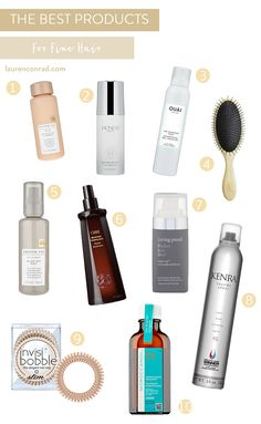 Tuesday Ten: The Best Styling Products for Fine Hair - Lauren Conrad