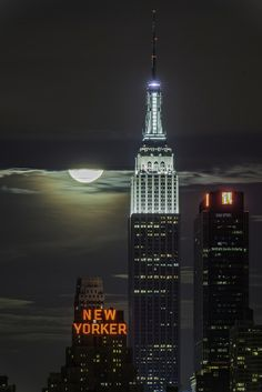 Supermoon III - New York, USA (by Kirit Prajapati)