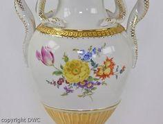 Schlangenhenkelvase-Vase-Porzellan-Marke-Meissen-I-Wahl-Blattgoldauflage-H-28cm