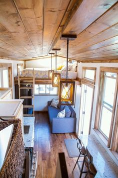 Tiny house with loft the home by alpine tiny homes features full sized appliances including a . tiny house with loft Tiny House Loft, Building A Tiny House, Tiny House Living, Tiny House Plans, Tiny House Design, Tiny House On Wheels, Tiny Loft, Casa Loft, Tiny House Nation