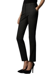 Eleonora Mid Rise Pinstripe Ankle Length Wool Trousers, $196.00
