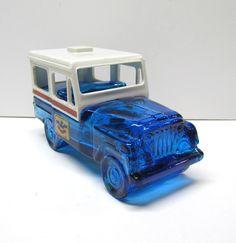 Vintage Avon U S Mail Jeep Bottle / Decanter Figurine, It Is Empty - Collectible AVON - Home Decor by VINTAGEandMOREshop on Etsy https://www.etsy.com/listing/261496858/vintage-avon-u-s-mail-jeep-bottle