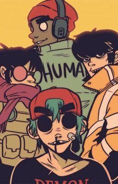 gorillaz, L. Gorillaz Band, Gorillaz Fan Art, Jamie Hewlett, Fanart, Tank Girl, Comics Anime, Arte Dope, Vocaloid, Monkeys Band