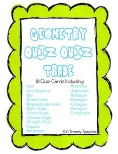 Geometry - Quiz, Quiz, Trade One Day Give Away...Check It Out!