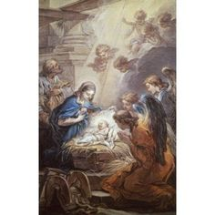 Nativity Carle Vanloo (1705-1765 French) Canvas Art - Carle Vanloo (18 x 24)