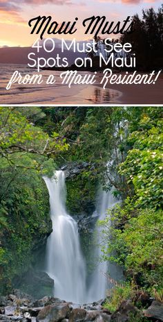 MAUI – 40 Must See Spots from a Maui Resident Travel tips and tricks! Maui Musts - 40 Must See Spots on Maui. Whether you're planning a trip to Maui or dreaming of one, you have to check out these beautiful places to visit. Trip To Maui, Hawaii Vacation, Maui Hawaii, Hawaii 2017, Maui Beach, Greece Vacation, Hawaii Life, Kapalua Hawaii, Hawaii Travel Guide
