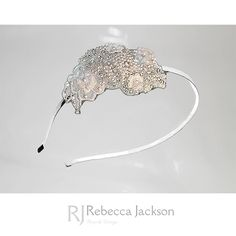 Bridal / Wedding Tiara, Headpiece 'Elizabeth' by Rebecca Jackson, Bespoke   Beautiful Swarovski Crystals & Pearls are hand beaded around glittering diamantes to create this stunning headpiece.   This stunning piece is a Bespoke piece, made to order, hand beaded and hand sewn here in the U