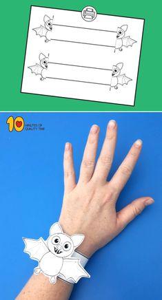 Halloween Bat Printable Bracelet