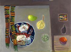 Dame Elizabeth Blackadder - Japanese Plate and Wooden Fruit Still Life Artists, Blackadder, Painting Still Life, Art Sketchbook, Famous Artists, Art Music, Painting & Drawing, Art Projects, Contemporary Art