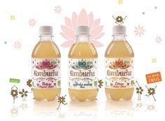 Kombucha - France Kombucha Brands, Probiotic Brands, Juice, Branding, Packaging, France, Bottle, Brand Management, Flask