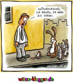 Osterhasen Verwechslung