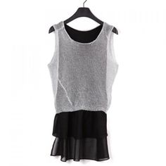 Sleeveless Two Pieces Dress For Women