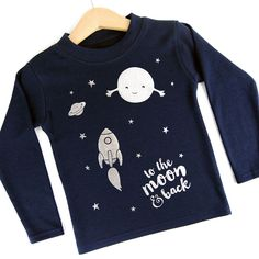 To the moon & back kids long sleeved cotton tshirt