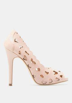 Love Pink Heart Heel