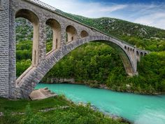 Arching over the Emerald River, Solkan, Slovenia (by Julijan Kodrič)