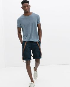 Image 1 of COTTON BERMUDA SHORTS WITH SUSPENDERS from Zara