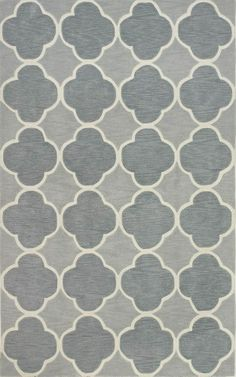 8'X 10' Thick Contemporary Modern All-Over Gray Morrocan Trellis Area Rug
